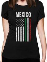 Возьмите Kawaii Женские повседневные футболки Для женщин Футболки большой Мексиканская Мексика американский флаг США Для женщин футболка иде...