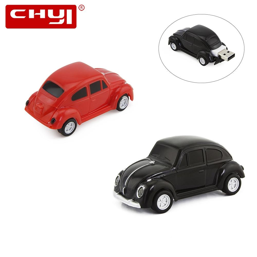 CHYI HOT Selling Mini USB 2.0 Flash Drive VW Beetle Car Shape Creative gifts Pen Drive USB Stick 4/8/16/32/64GB Pendrive U Disk