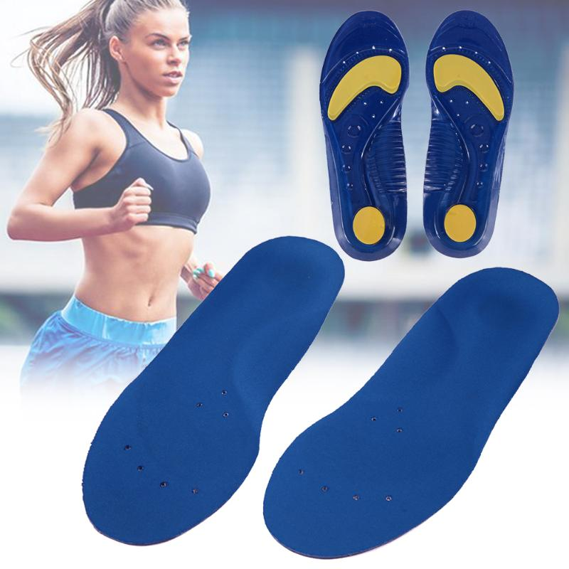 35-48 Size Foot Care Sports Insoles Women Men Shoes Pad Massage Shock-absorbing Soft Comfortable Silicone Insoles Foot Pads