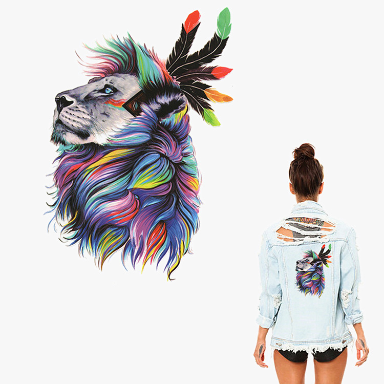 Color Head Thermal Transfer Offset Hot Cartoon Animal Pattern DIY Clothing T-shirt Washable Printing(China)