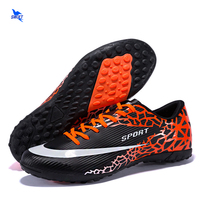 New Striped Professional Kids Turf Soccer Shoes Children Anti Shock Football Boots Cheap Sneakers Futsal Cleats