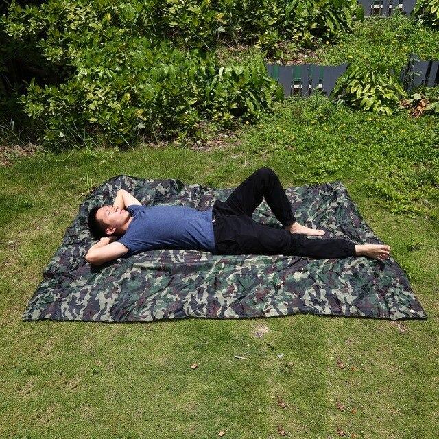 Outdoor Portable Rainproof Sun Shelter Tent Tarp Durable Camping Cushion Survival Shelter Hiking Tarp