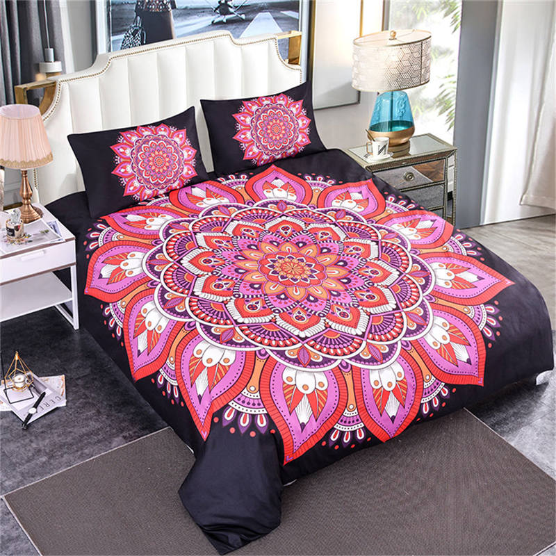 ZEIMON Black Comforter Bedding Set Bohemia Mandala 3d Duvet Cover Pillowcase Polyester Home Textiles Luxxy Room Decoration ZEIMON Black Comforter Bedding Set Bohemia Mandala 3d Duvet Cover Pillowcase Polyester Home Textiles Luxxy Room Decoration