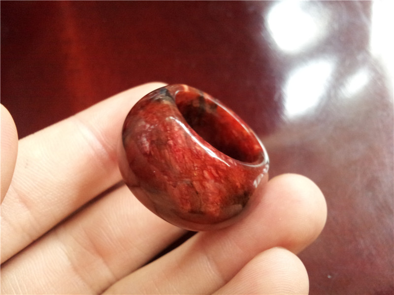 US $30 0 25% OFF|Natural jade ring red Bloodstone Bloodstone Ring Mens jade  ring-in Rings from Jewelry & Accessories on Aliexpress com | Alibaba Group