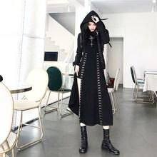 6f5bba44d45 Women V-Neck Lace-up Dress 2018 Retro Vintage Steampunk Black Punk Gothic  Victorian Dress Vestidos