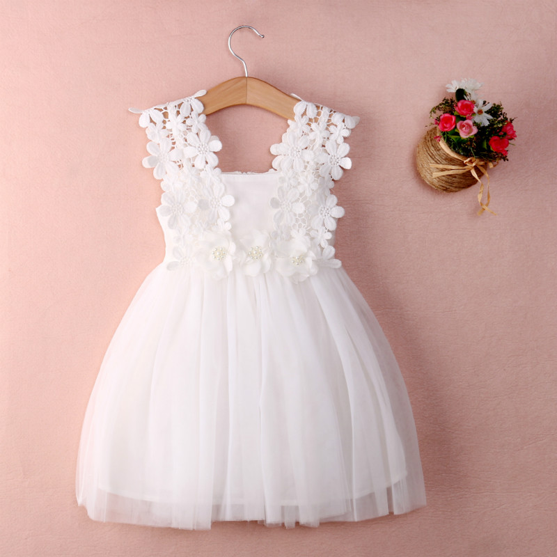 New XMAS Baby Girls Party Lace Tulle Flower Gown Fancy