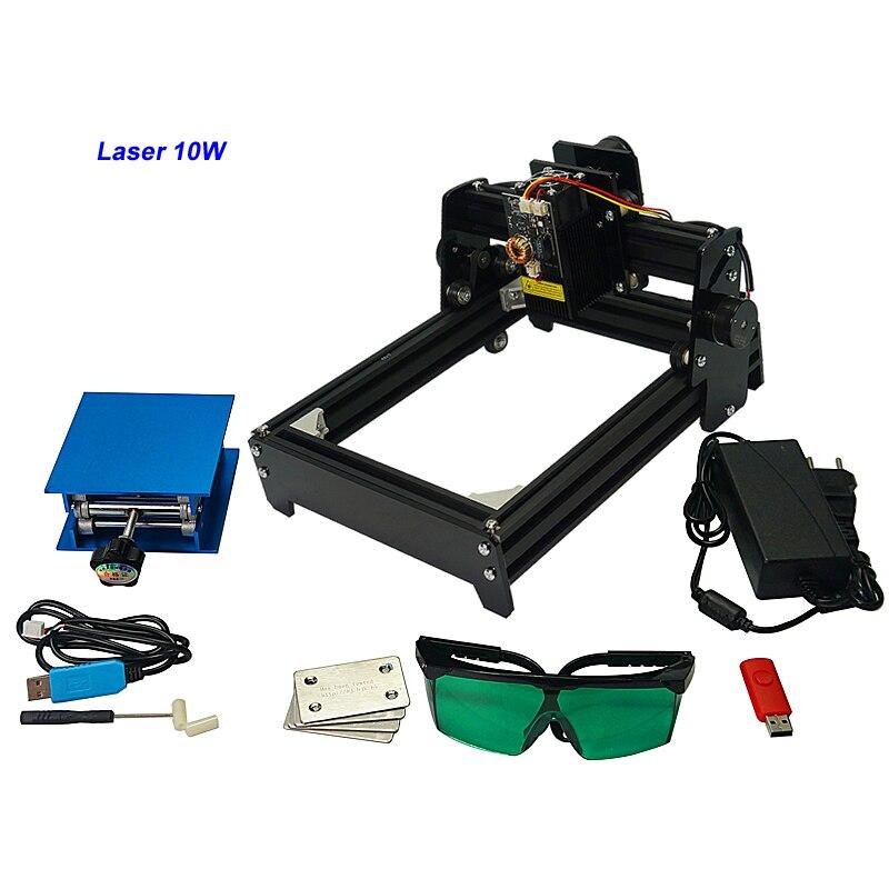 Mini Machine de marquage Laser graveur de CNC en métal 10 W petite gravure pour métal, acier, aluminium