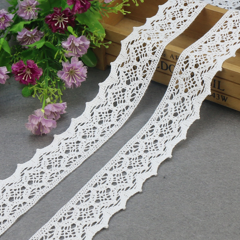 5yards/lot  Lace Ribbon DIY Sewing Accessories  Cotton Lace Ribbons Trim Costura Wedding Decoration Lace Fabric