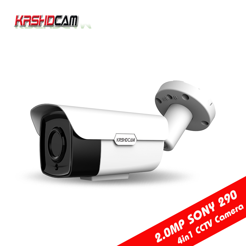 CCTV AHD Camera 4in 1 full hd 1080P 2.0mp sony imx290 bnc bullet outdoor waterproof ip66 Night Vision cameras de seguranca