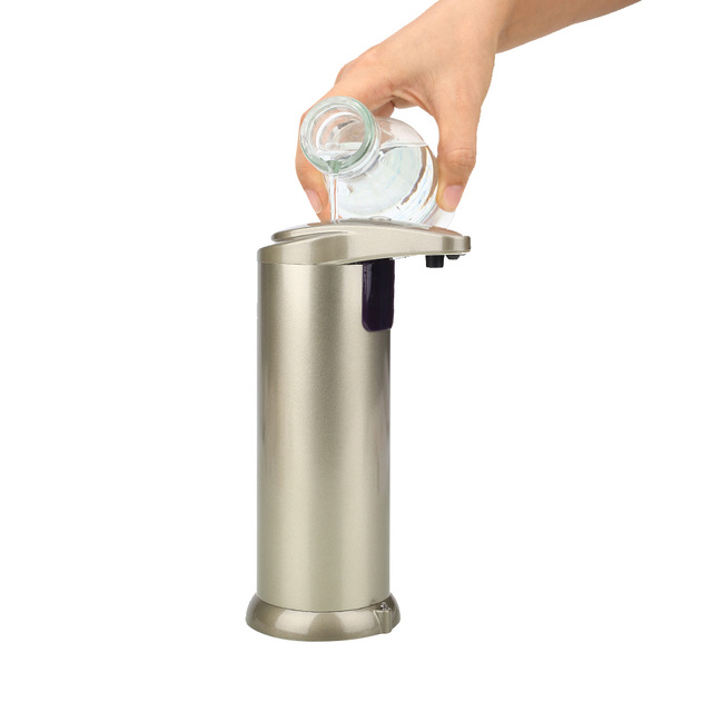 Soap Dispenser Automatic Sensor Stainless Steel Bathroom Shampoo Dispenser