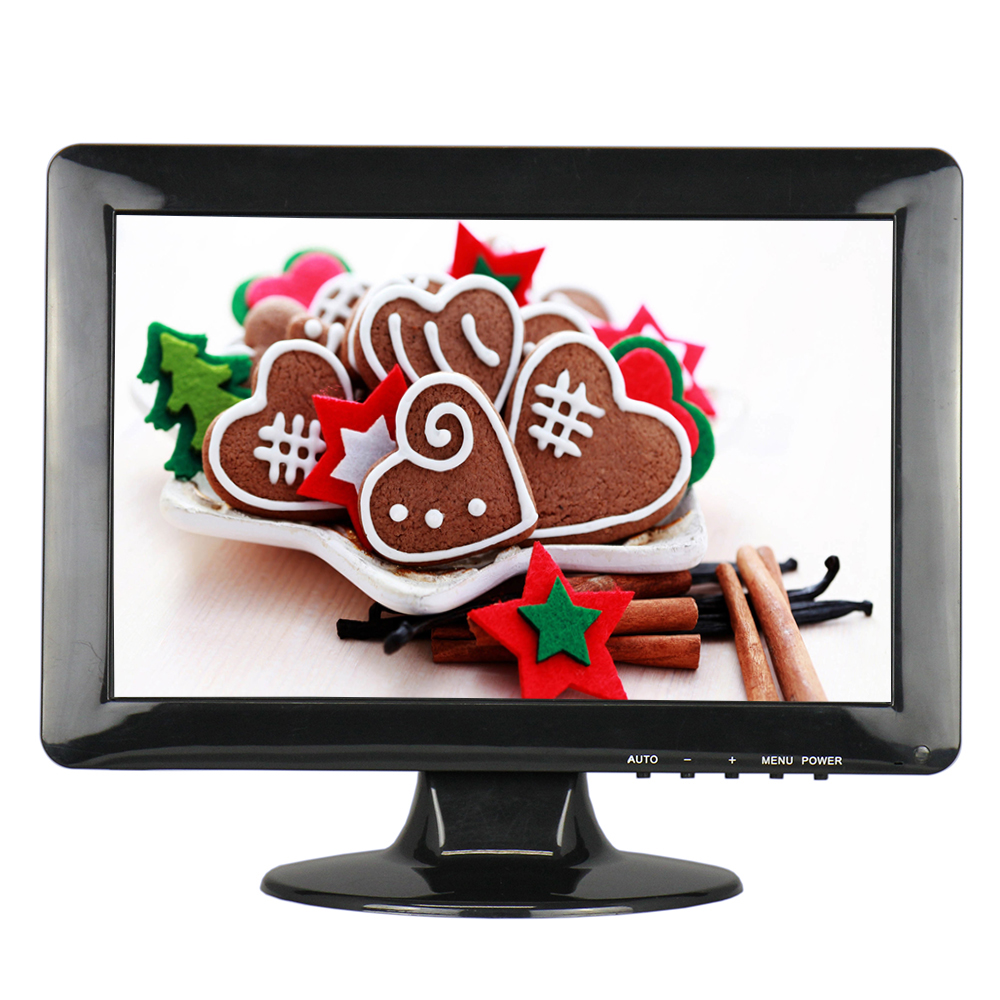 12 Inch Wide Screen Monitor 1280*800 CCTV Monitor Color LCD Monitor with AV/BNC/VGA/HDMI/USB Interface цена 2017