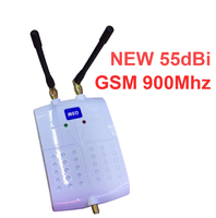new model 55dbi gsm booster with anteanna gsm repeater signal enlarger mobile phone signal enlarger 900mhz booster with antennas