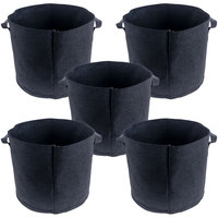 5 Gallon 5 stks Hydrocultuur Tuin Groeien Zakken voor Planting 260g Niet-geweven Stof Groeiende Pot Tuin Container w/Handgrepen