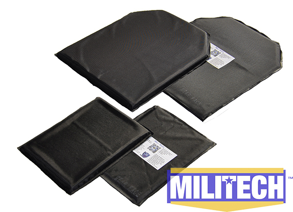 MILITECH 10 x 12 & 6 x 8 Pairs Set Aramid Ballistic Panel Bullet Proof Plate Inserts Body Armor Soft Armour NIJ Level IIIA 3A