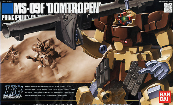 1PCS bandai 1/144 HGUC 027 MS-09F/TROP Domtropen Sand Brown Gundam Mobile Suit Assembly Model Kits Anime action figure lbx toys fantasy big mushroom 10 x20 cp computer painted scenic photography background photo studio backdrop dt lp 0067