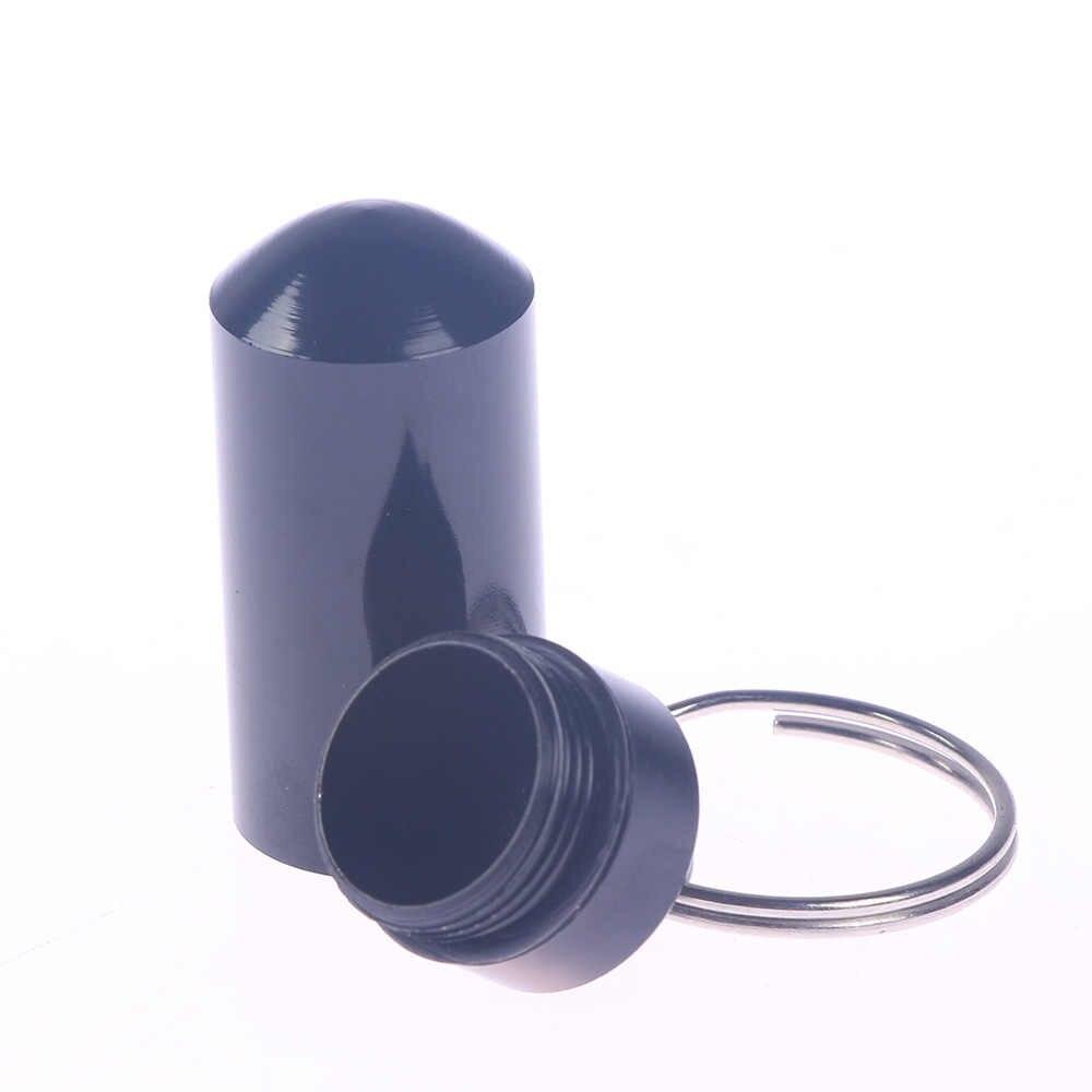 1 قطعة للماء الألومنيوم حبة صندوق حالة زجاجة حامل الكاش المخدرات الحاويات المفاتيح الطب مربع الرعاية الصحية
