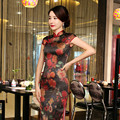 The Fashion Big Yards Long Cheongsams Dress Restoring Waist Slim with Plus Size 3XL Daily Dress
