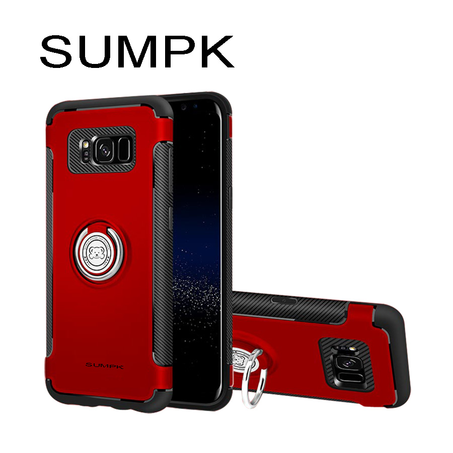 Kasus ponsel SUMPK untuk samsung s8 2 in 1 Magnetic car Holder Kasus - Aksesori dan suku cadang ponsel - Foto 2