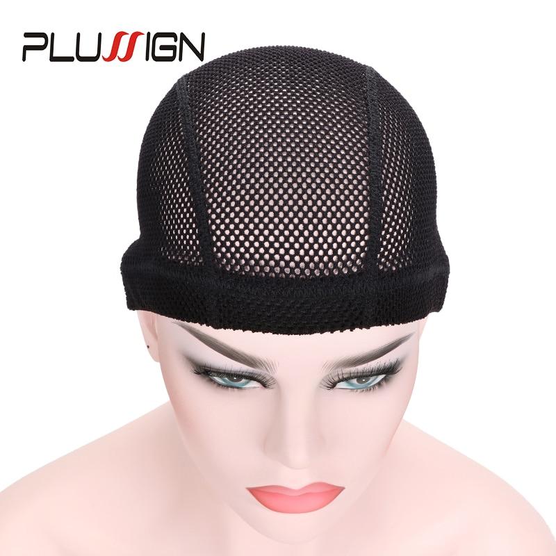 Crochet Wig Cap For Making Wigs Big Hole Braid Mesh Cap Breathable Wig Net Cap Black Thick Wig Making Tools For Crochet Braid