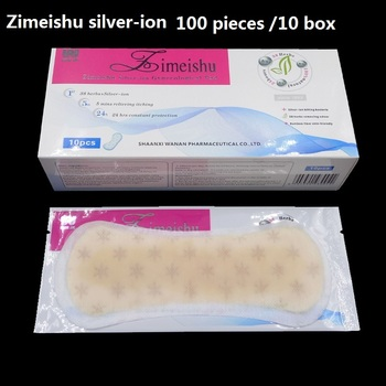 100 Pcs zimeishu silver-ion gynecological cure care pad womens medicated pads feminine hygiene health care personal care