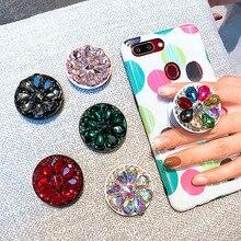 Модный держатель для телефона с бриллиантами, универсальный держатель для всех мобильных телефонов, Женский держатель с кольцом на палец, складной чехол, подставка для iPhone X