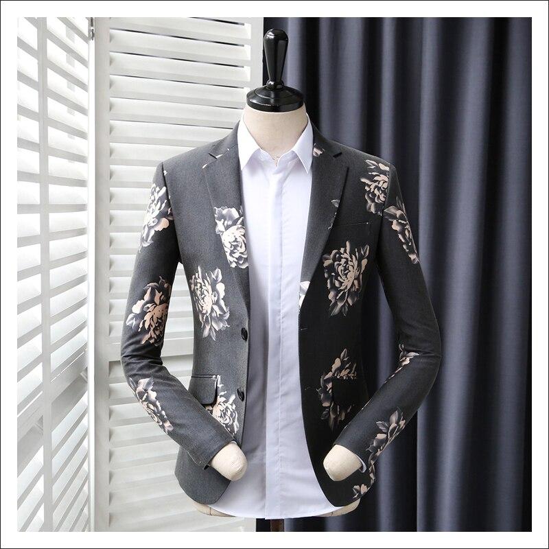 Us 8988 Pria Kasual Jas Pengantin Gaun Pakaian Pria Ramping Hitam Merah Muda Bunga Bordir Pakaian Jaket Pria Blazer 365wt06 In Setelan Jaket From