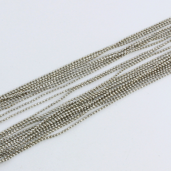Copper Metal 100 Meters/Troll 1.2/1.5/2/2.4/3.2mm Shiny Curved Ball Beads Jewelry Links 9 Colors Bracelet Necklace Chains diy