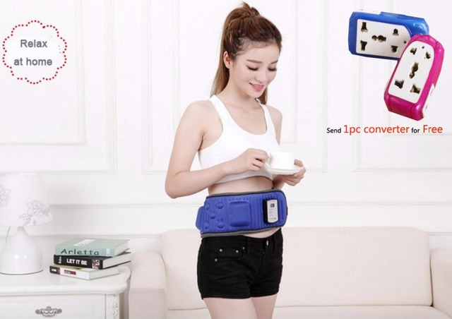 Best Quality 220V Electric Vibration Infrared Ray Sauna Waist Slimming Belt Fat Burning Heating Massage Vibrator Massager 60Y