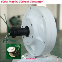 sale New Arrival Maglev Generator 600w 12v 24v 3 phase300 RPM permanent magnet generator forwind power water new energy using