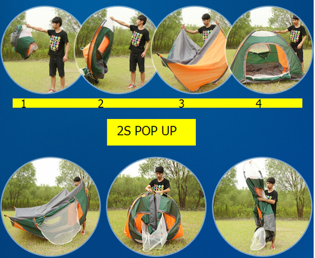 New easy take automatic pop up backpacking tent for tourist 3-4 person light weight  sc 1 st  AliExpress.com & New easy take automatic pop up backpacking tent for tourist 3 4 ...