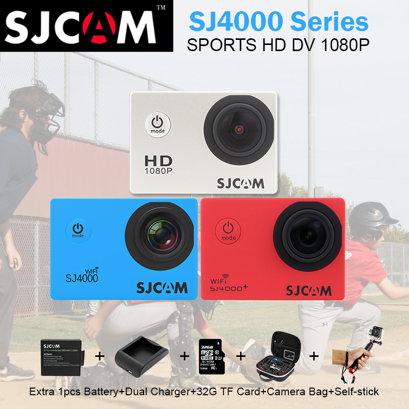 Original Sjcam 4000 Series Sj4000 & SJ4000 WIFI & SJ4000 Plus Sport Action Camera 30M Waterproof Camera HD 2K Sj Cam Sports DV other sjcam wifi sj4000 wifi 1080p hd gopro dv 30 original sjcam wifi version sj4000 wifi 1080p full hd gopro camera