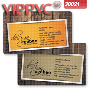 a30021 CMYK Offset Business cardsPVC Card Matte