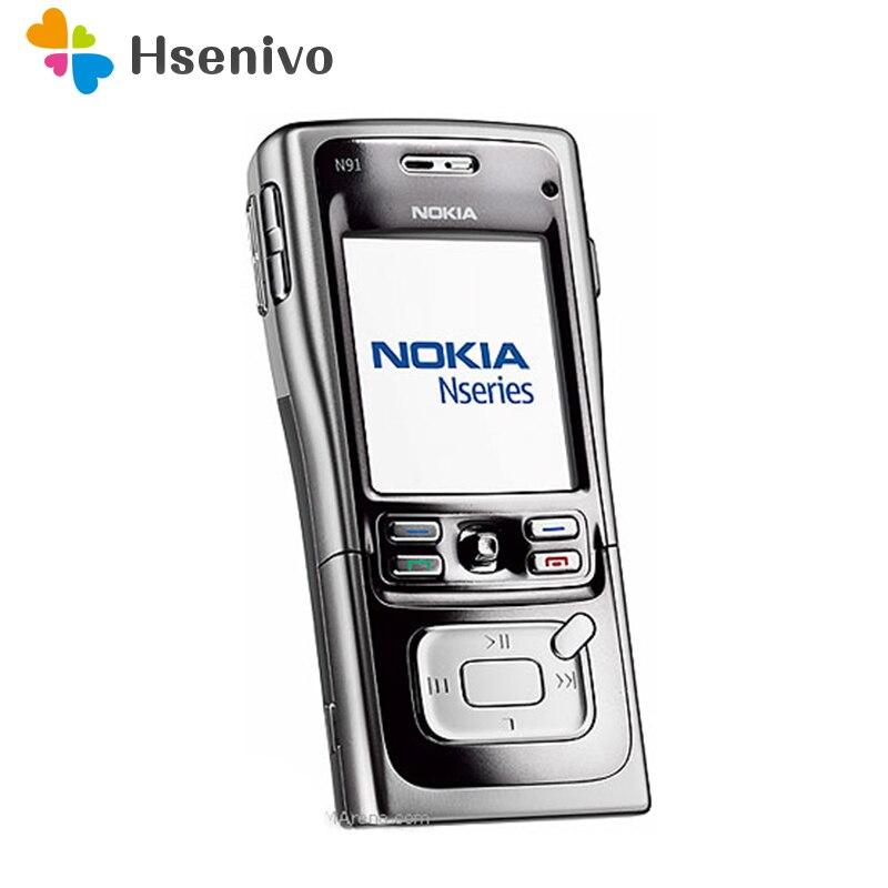 100% разблокирована оригинальный Nokia N91 8 GB 4 ГБ мобильный телефон разблокирован 3G Wi Fi арабский и русский языки Восстановленное