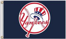 New York Yankees MLB Flag 3X5FT Flag Hot Sale Products 90×150 cm Sports Outdoor Flag Brass Metal Custom Flag Holes, Free Shippin