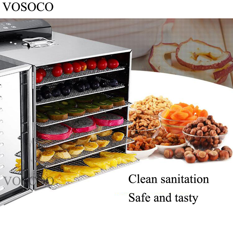 VOSOCO Air dryer Stainless steel fruit dryer Blow stoving 6 layer vegetable beef sausage food drying machine 500W bakeout roast shanghai kuaiqin kq 5 multifunctional shoes dryer w deodorization sterilization drying warmth