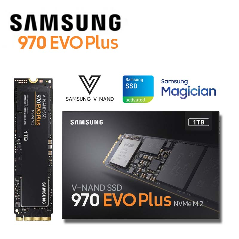 Samsung Nvme SSD 1TB M.2 V Nand High Performance Internal Solid State Drive M2 2280 PCIe 3.0 MLC 970 EVO Plus 250gb 500gb 2tb