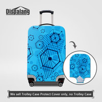 Dispalang Women Men Personalized Case For A Suitcase Geometry Pattern Elastic Luggage Cover Dust Rain Thick