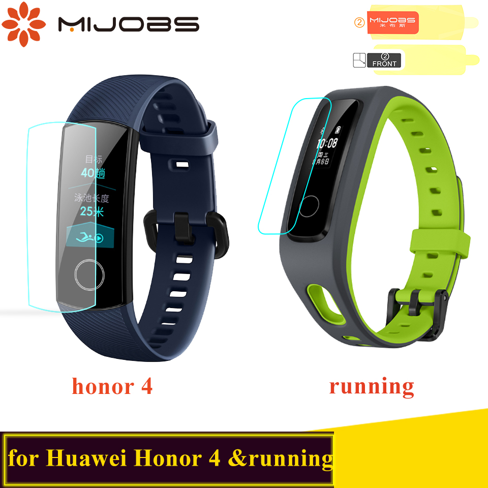 Mijobs Soft TPU HD Ultra Screen Protector For Huawei Honor Band 4 Smart Wristband Protective Film For Honor Band 4 Running Strap