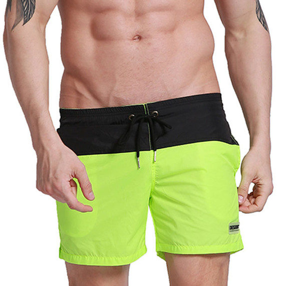 2017 New Summer Mens Beach Board Shorts Quick Dry Swim Short Swimwear Man Bermudas Surf Bathing Suit Sportswear Mesh Liner In