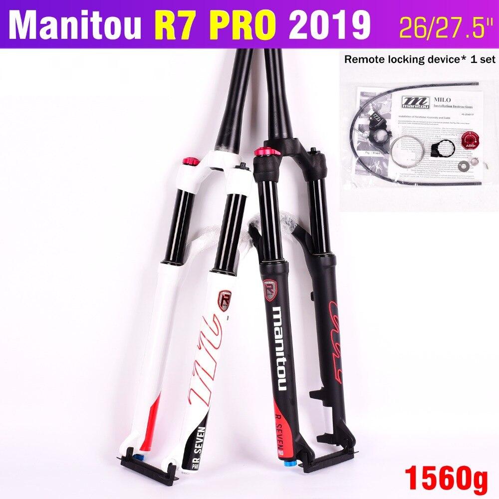 "Manitou R7 Pro 1-1//8/"" 26/"" x 100mm Mountain Bike Bicycle Disc Brake Fork Black"