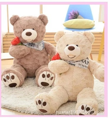 Rose grande taille ours en peluche poupée jouets en peluche surdimensionné oreiller ours en peluche poupée d'anniversaire fille