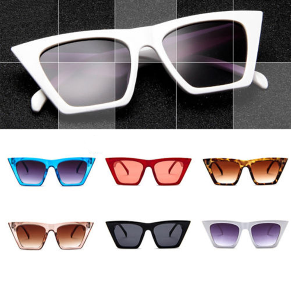Fashion Retro Sunglasses Women Cat Eye Sun Glasses Lens Alloy Sunglasses Female Eyewear Frame Driver Goggles Car Accessories