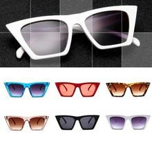 Fashion Retro Sunglasses Women Cat Eye Sun Glasses Lens Alloy Sunglasses female Eyewear Frame Driver Goggles Car Accessories chic cat eye shape frame splicing metal sunglasses for women