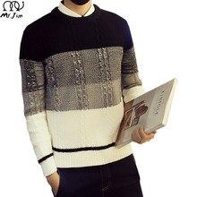MR. JIM 2016 Heißer Verkauf Herrenmode Pullover Lässige Streetwear Oansatz Volle Hülse Pullover für Männer England Stil Drop Verschiffen