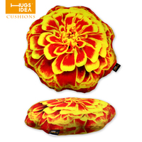 HUGSIDEA 3D Yellow Red Color Flower Shaped Cusion Home Decor Sofa Bed Seat Back Cushions Floral