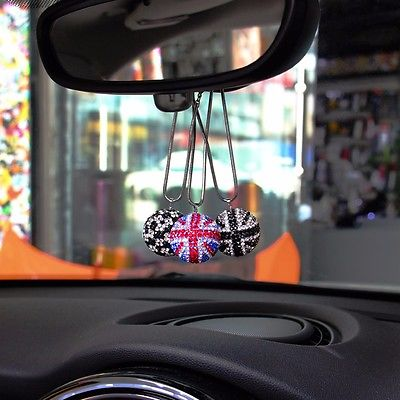 Union Jack crystal ball diamond ornaments Decoration for  mini cooper