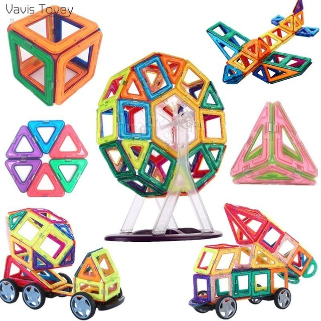 Vavis Tovey 77/47PCS mini Magnet Designer Magnetic Building Blocks Construction Set Kids toddler Toys brinquedos gifts