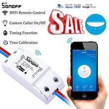 SONOFF Módulo de automatización de Control remoto para el hogar, enchufe inteligente Universal de 10A, 220V, CA de 90 250V, con Wifi, 10 Uds.