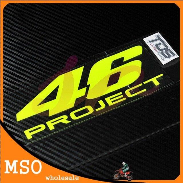 62f118ef367 2 pcs lot Valentino Rossi 46 Stickers Fluorescent Yellow Medium 46 THE  DOCTOR Small Sticker Set Moto GP Motorbike Decals