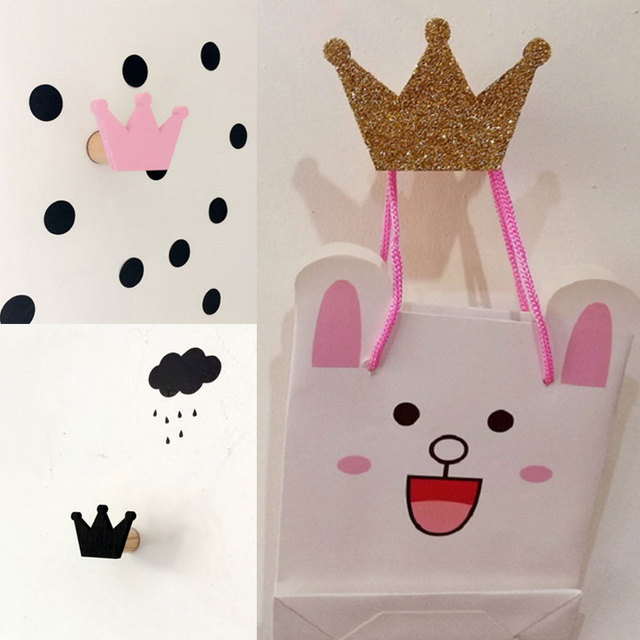 Cute Coat Hooks aliexpress : buy cute crown wooden clothes coat hook for